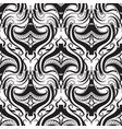 abstract black and white damask seamless patte vector image vector image