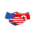 agreement with usa and north korea concept vector image