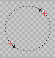 airplane line path icon of air vector image vector image