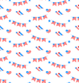 American Patriotic Seamless Pattern US National vector image