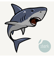 angry shark vector image