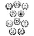 Anniversary heraldic laurel wreaths icons vector image vector image