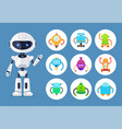 artificial intelligence robot and mechanic models vector image