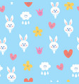 baby bunnies seamless pattern vector image vector image
