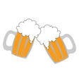 beers in glass on white background vector image
