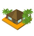 bungalow with palm trees isometric icon vector image vector image