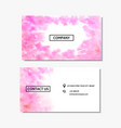 business card with a pink watercolor design vector image vector image