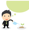 BUSINESS GROW vector image