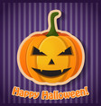 celebrating halloween party poster vector image vector image
