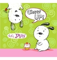 Cheer up card to friend with cute puppies vector image vector image
