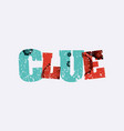 clue concept stamped word art vector image