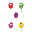 colorful balloons cartoon character 01 collection vector image vector image