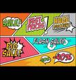 comic sales price design vector image vector image