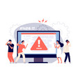 computer error warnings unavailable page users vector image vector image