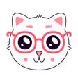 cute kitty head vector image vector image