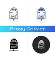 dns server icon vector image vector image
