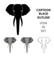 elephant icon in cartoon style isolated on white vector image vector image