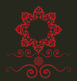 ethnic frame with floral motives mandala stylized vector image vector image