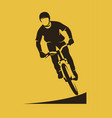 extreme mtb dirt racer vector image vector image