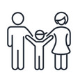 father mother and son happy members family day vector image