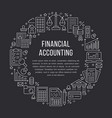 financial accounting circle poster with flat line vector image vector image