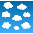 Flat clouds on blue sky vector image vector image