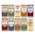 Food retro banners vector image vector image