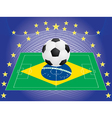 football over pitch vector image vector image