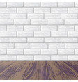gray brick wall with laminate floor vector image vector image