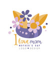 i love mom logo design happy mothers day creative vector image