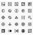 IQ test icons vector image