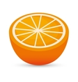 juicy orange sliced healthy food icon design vector image