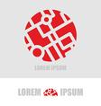 Logo ball segments Emblem business template for