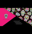 mexican day dead composition vector image