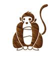monkey cartoon graphic vector image vector image