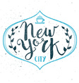 New York City Template Hand Drawn Calligraphy Pen vector image vector image