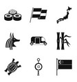 old culture icons set simple style vector image vector image