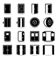 Open and closed doors icons set vector image vector image