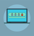 password security icon vector image vector image