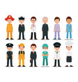 People professions and occupations icon set vector image
