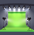 photo studio spotlights composition vector image vector image