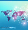 political world map with global technology vector image vector image