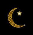 ramadan card crescent with a star oriental vector image