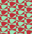 Retro 3D red and green wavy vector image