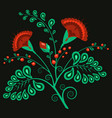 russian floral traditional ornamental pattern vector image vector image