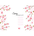 sakura japan cherry branch with a pink flowers vector image