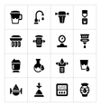 Set icons of water filters vector image vector image