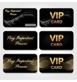 Set of Black VIP Cards vector image