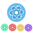 set of molecule icon button stock vector image
