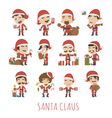 Set of Santa Claus costume characters vector image vector image